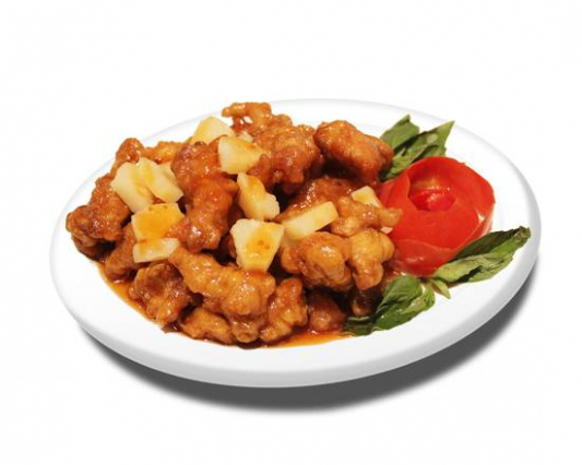 69. Pineapple Chicken with Rice