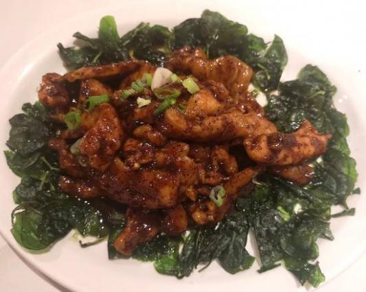 57. Chicken with Szechaun Black Pepper Sauce