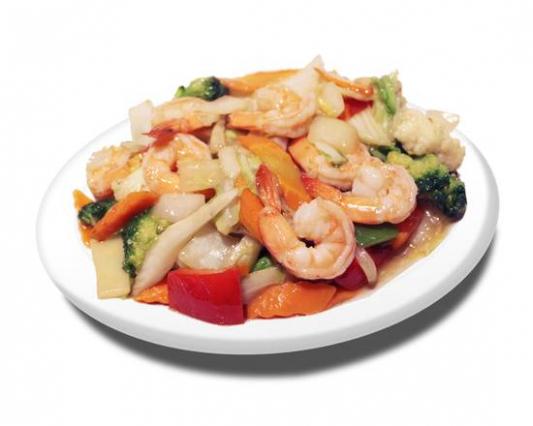 60c. Stir Fried Shrimp with Mixed Veggies