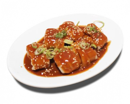 2. Dumplings with Peanut Butter Sauce