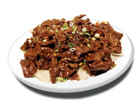 48. Beef with hot Garlic Sauce