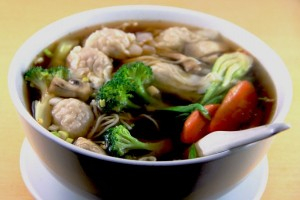 24. Mixed Vegetable  Noodle in Soup