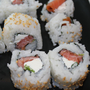 36.Smoked Salmon & Cream Cheese Roll