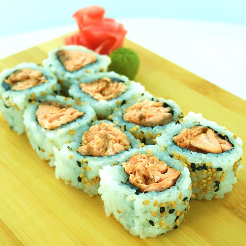 27. Salmon Tempura Roll (8 pcs)