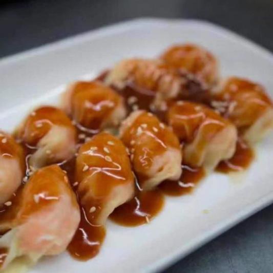 107. Raviolis Hunan avec Sauce aux Arachides / Peanut Butter Dumpling / 红油抄手