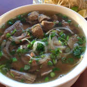 Rare Beef, Brisket, Beef Ball with Rice Noodle Soup
