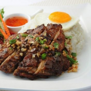 Grilled Lemongrass Chicken, Fried Egg with Rice