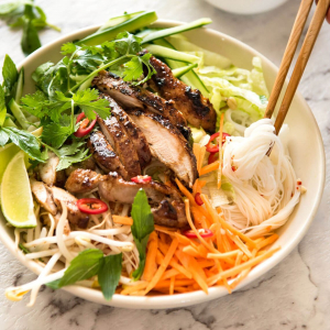 Grilled Chicken with Vermicelli