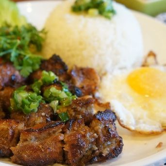 Grilled Pork, Beef Short Rib & Shrimp on Rice