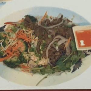 #48. Stir-Fried Beef and Vegetable on Steamed Rice (Cơm Bò Xào Rau Cải)
