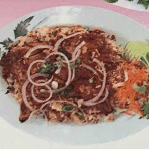 #52. Grilled Lemongrass Pork Chop on Fried Rice (Com Chiên Sườn Ướp Xa)