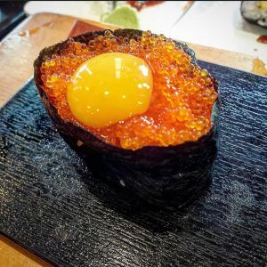 Tobiko & Quail Egg Nigiri