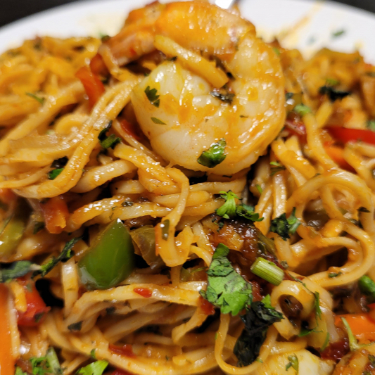 Indo Chinese Noodles Vegetarian