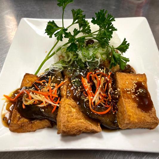 V7. Tofu with Eggplant
