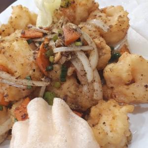 107. Salty Pepper Shrimp - 椒鹽炒蝦 辣