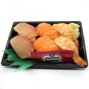 Salmon (2 pcs) & Tuna (2 pcs) & Ebi (2 pcs) Nigiri