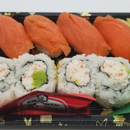 Smoked Salmon Nigiri and Cali Roll Combo (8 pcs)