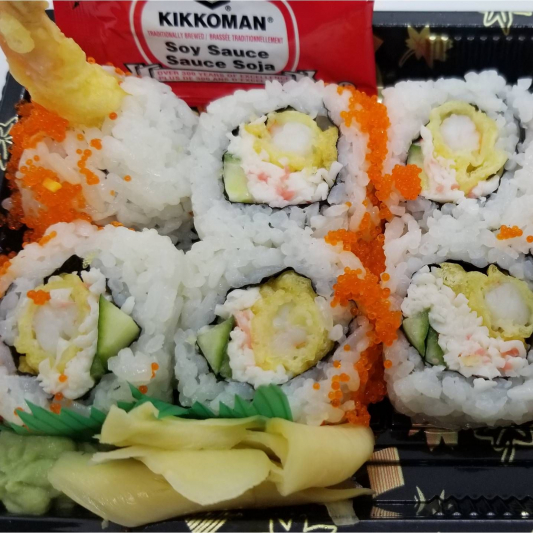 Double Prawn Dynamite Roll with Masago (8 pcs)