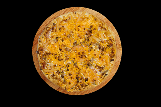 12'' Bacon Double Cheese Pizza and 2-Topping Pizza