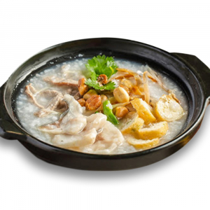 9602. Assorted Seafood, Pork and Peanut Congee 荔湾艇仔粥