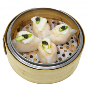9102. Scallop Dumpling with Truffle Sauce 黑松露带子饺