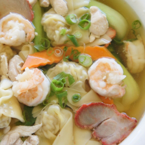 1202. Seafood Wor Wonton Soup 海鲜窝云吞