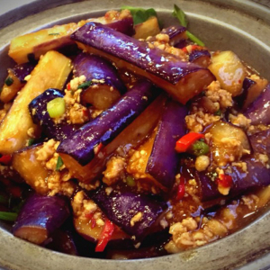 2503. Eggplant with Minced Pork & Chinese Anchovy in Casserole 鱼香茄子煲