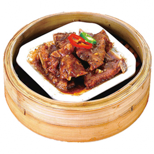 9111. Steamed Beef Spare Rib with Black Pepper Sauce 黑椒牛仔骨