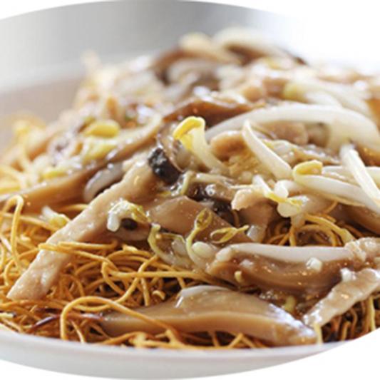 4310. Pork Chow Mein (Crispy) 肉丝脆麵