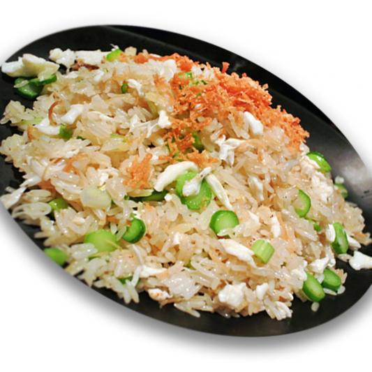 4101. Dried Scallops Egg White Seafood & Tobiko Fried Rice 瑶柱蟹子蛋白海鲜炒饭