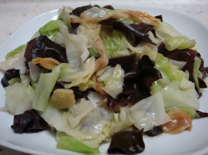 A10. Stir Fried Black Fungus with Chinese Cabbage