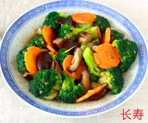 A13. Stir Fried Mushroom with Broccolis
