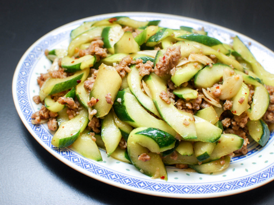 B11. Diced Cucumber with Chinese Dressing