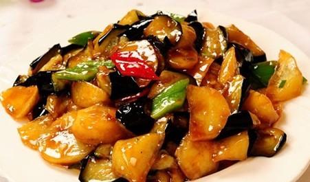 A3. Stir Fried Green Pepper Eggplant & Potato