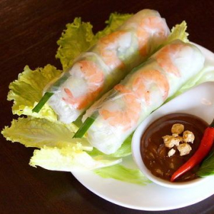 1. Fresh Shrimp & Pork Salad Roll (2 rolls)