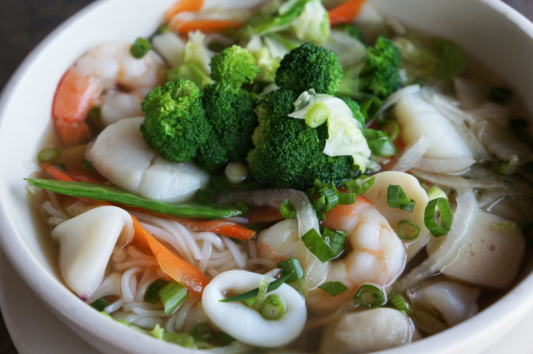 22. Pho Seafood Noodle in Soup