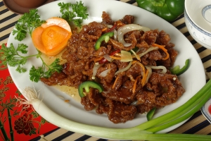 53. Dry Szechuan Chili Ginger Beef - 姜煸牛肉