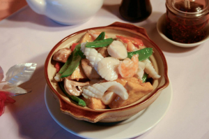 78. Seafood with Tofu Hot Pot
