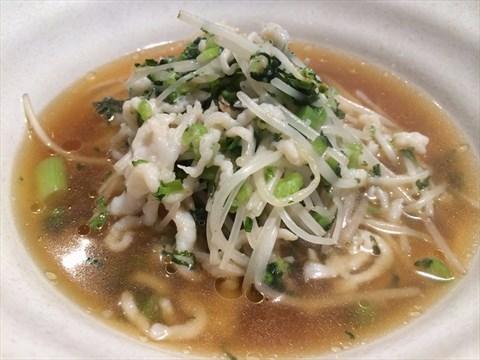 Snow Cabbage & Shredded Pork Noodle Soup