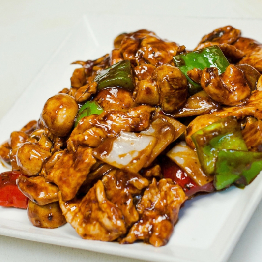 46. Chicken with Black Bean Sauce