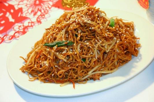 91. Shredded Chicken Chow Mein