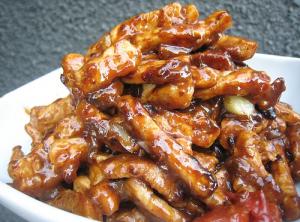 98. Fried Pork Strips With Beijing Sweet Bean Sauce