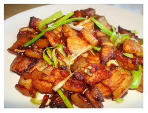 96. Twice-Cooked Pork Belly With Bean Paste And Hot Sauce