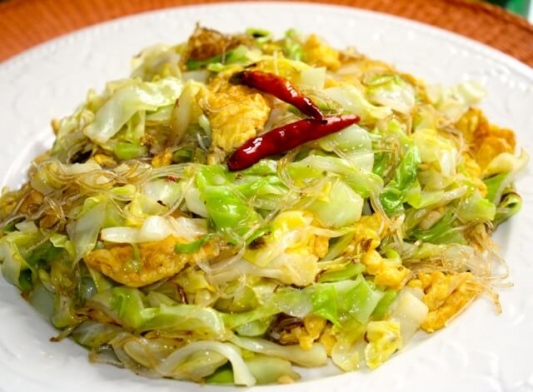 114. Dry Fried Shredded Cabbage