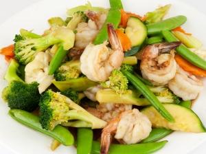 73. Prawns & Vegetables (Goong Pad Pak)