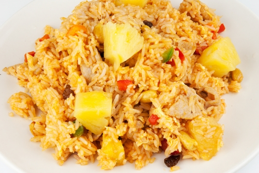 93. Pineapple Fried Rice (Khao Pad Sapparot)
