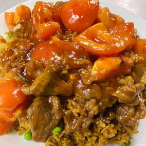 Beef and Tomato Fried Rice