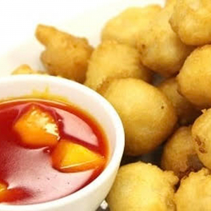 Pineapple and Sweet-and-Sour Chicken Balls