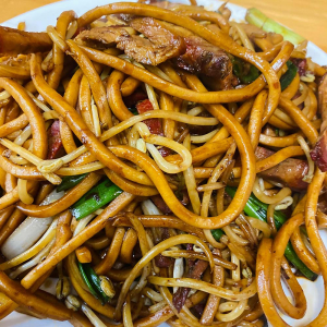 Shanghai Noodles with BBQ Pork