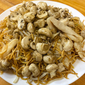 Mushroom and Chicken Chow Mein